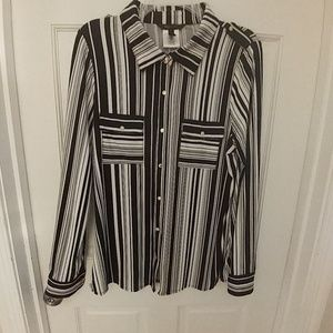BCBGMAXAZIRA Long Sleeve Blouse Size XL